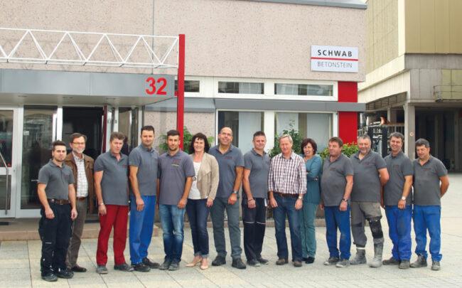 Das Team von Schwab Betonstein