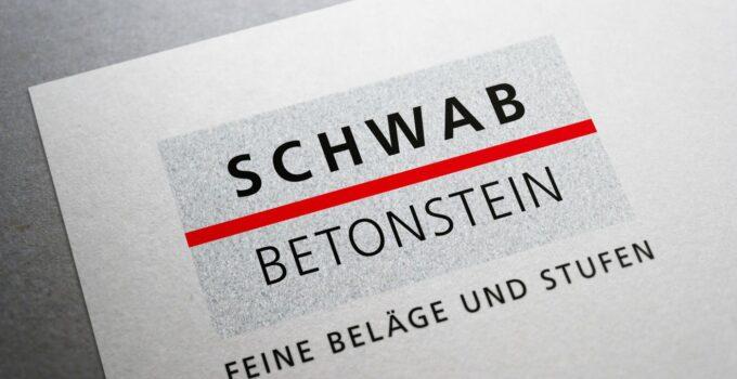 Schwab Betonstein Logo auf Papier