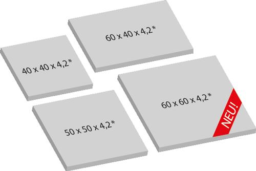 Terassenplatten bei Schwab Betonstein verfügbare Maße