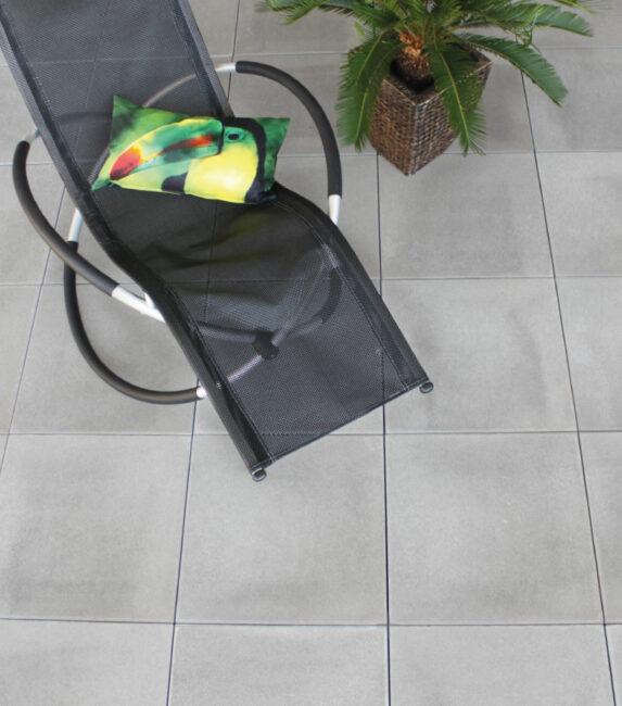 Schwab Betonstein Gartenplatten Grau Glatt 60 x 60cm