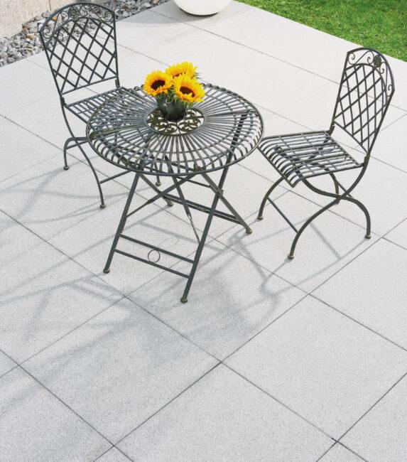 Schwab Betonstein Gartenplatten Straton Silber 60x60cm